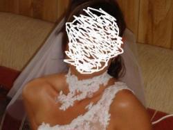 Suknia ślubna rozm. 38 biało-różowa
