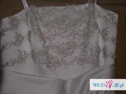 suknia ślubna rozm 40/42 +bolerko+halka
