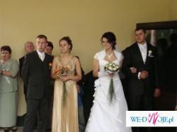 Suknia ślubna rozm. 40/42 dodatki gratis