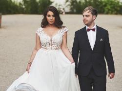 Suknia ślubna rozm. 42 DUŻY BIUST + długi welon GRATIS!
