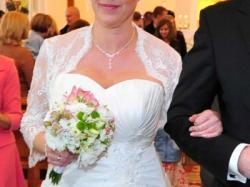 Suknia ślubna rozm.42, kolor ivory/ecru