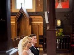 Suknia ślubna, rozmiar 38, muślin
