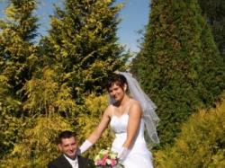 Suknia ślubna rozmiar 40 z gorsetem dół 3 częściowy