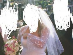 suknia ślubna rozmiar 42 biała  2 częściowa z gorsetem raz użyta