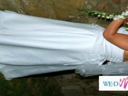 suknia ślubna rozmiar 48 dla puszystej biała cena 500 zł