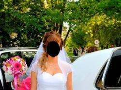 Suknia ślubna rozmiar S Cymbeline gratis bolerko i welon!