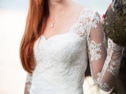 Suknia ślubna, rybka, dopasowana, koronka, tren, a'la Viola Piekut