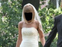 "Suknia ślubna ""rybka"", ivory, rozmiar 36"