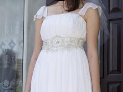 Suknia ślubna rzymianka dla wysokiej