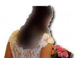 Suknia ślubna satynowa wierzch w całości z hiszpańskiej koronki