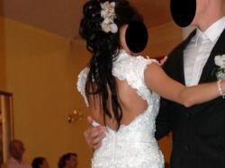 Suknia ślubna seksowna elegancka tania demetrios 1381 Fason: Rybka