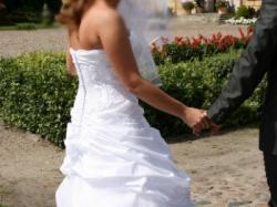 Suknia ślubna Sincerity 3234, kolor BIAŁY, rozm. 42