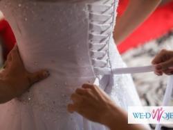 suknia ślubna sincerity 3621 rozmiar 14 USA noszę 40