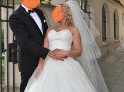 Suknia ślubna SINCERITY 3621 + welony