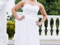 Suknia ślubna, ślicznka koronka