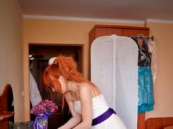 Suknia Ślubna śmietankowa M 172cm +8cm obcas