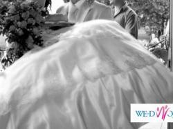 suknia ślubna śmietankowa rozmiar 36-38, 172 cm