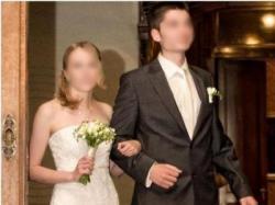 Suknia ślubna SPOSA ivory litera A koronka tafta