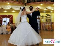 Suknia ślubna Sposa: Manhattan + bolerko z koronki, welon
