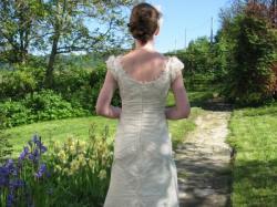 Suknia ślubna Sposabella 501 ecru - Cappuccino, rozm. 38