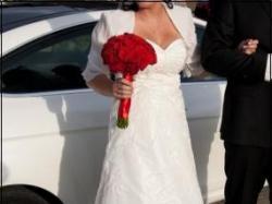 suknia ślubna sposabella, ecru, rozmiar 38