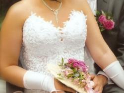 Suknia ślubna Srebrny Pas- Dodatki GRATIS
