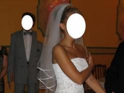 "Suknia ślubna ""Suzi"" Roz. 38/170 regulowany + gratisy"