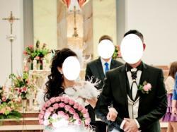 Suknia ślubna swarovski krótka z przodu biała 36-38