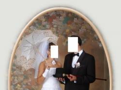 Suknia ślubna swu-częściowa