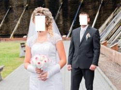 Suknia ślubna-syrenka