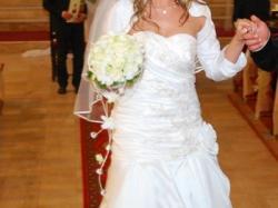 Suknia ślubna szyta na wzór Maggie Sottero