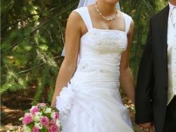 Suknia ślubna - TAFTA + KORONKA roz.38