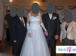 Suknia ślubna tiulowa