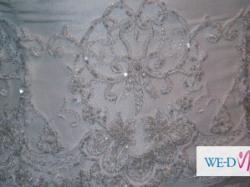 Suknia Ślubna tren 1,5metra sznurowane wiązanie