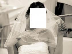 Suknia ślubna, tren jak fale morskie