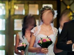 Suknia slubna- typu księżniczka, rozm. 36-38