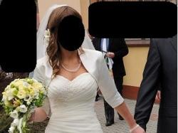 suknia ślubna Vanilla, buty, welon, kamizelka męska