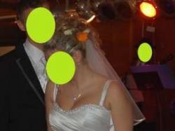 Suknia Ślubna Veromia!biała!satyna! dodatki!roz 38