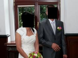 suknia ślubna visual chris ecru rozm. 38