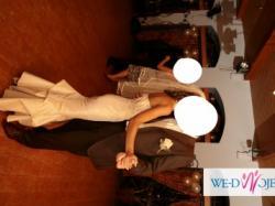 suknia ślubna w kolorze cappuccino
