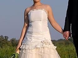 Suknia Ślubna w kolorze ecru, rozmiar 38, Bielsko-Biała, Sułkowice