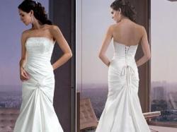 Suknia ślubna w kolorze ivory o pieknym kobiecym kształcie