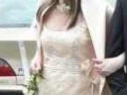suknia slubna w kolorze szampana