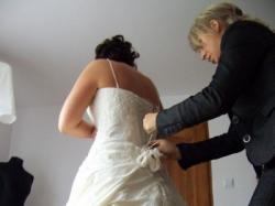 suknia ślubna w kolorze szmpana (ecri)