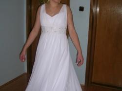 Suknia ślubna w stylu empire Hermago
