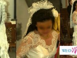 Suknia ślubna w stylu flamenco