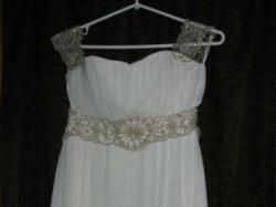Suknia ślubna w stylu greckim-delikatne ecru!