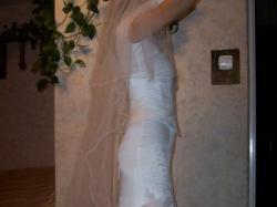 suknia ślubna w stylu rybki