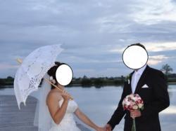 Suknia ślubna - Waniliowa biel