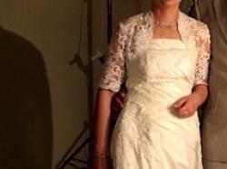 SUKNIA Ślubna waniliowa rozm.36-38